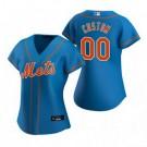 Women's New York Mets Customized Blue Alternate 2020 Cool Base Jersey