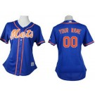 Women's New York Mets Customized Blue Cool Base Jersey