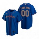 Women's New York Mets Customized Blue Road 2020 Cool Base Jersey