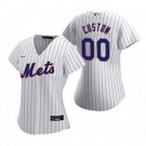 Women's New York Mets Customized White Stripes 2020 Cool Base Jersey
