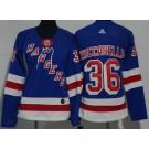 Women's New York Rangers #36 Mats Zuccarello Blue Jersey