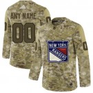 Women's New York Rangers Customized Camo Fashion Authentic Jersey