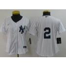 Women's New York Yankees #2 Derek Jeter White 2020 Cool Base Jersey