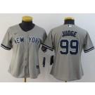 Women's New York Yankees #99 Aaron Judge Gray Player Name 2020 Cool Base Jersey