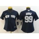 Women's New York Yankees #99 Aaron Judge Navy Player Name 2020 Cool Base Jersey