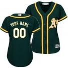 Women's Oakland Athletics Customized Green Cool Base Jersey
