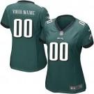 Women's Philadelphia Eagles Customized Game Midnight Green Jersey
