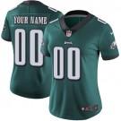 Women's Philadelphia Eagles Customized Limited Green Vapor Untouchable Jersey