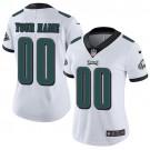 Women's Philadelphia Eagles Customized Limited White Vapor Untouchable Jersey