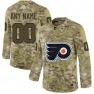 Women's Philadelphia Flyers Customized Camo Fashion Authentic Jersey