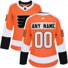 Women's Philadelphia Flyers Customized Orange Authentic Jersey