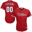 Women's Philadelphia Phillies Customized Red Cool Base Cool Base Jersey