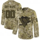 Women's Pittsburgh Penguins Customized Camo Authentic Jersey