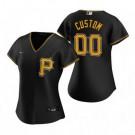 Women's Pittsburgh Pirates Customized Black 2020 Cool Base Jersey