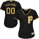 Women's Pittsburgh Pirates Customized Black Cool Base Jersey