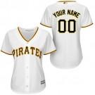 Women's Pittsburgh Pirates Customized White Cool Base Jersey