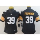 Women's Pittsburgh Steelers #39 Minkah Fitzpatrick Limited Black 2018 Vapor Untouchable Jersey