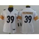 Women's Pittsburgh Steelers #39 Minkah Fitzpatrick Limited White Vapor Untouchable Jersey