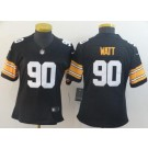 Women's Pittsburgh Steelers #90 TJ Watt Limited Black 2018 apor Untouchable Jersey
