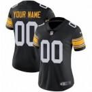 Women's Pittsburgh Steelers Customized Limited Black Alternate Vapor Untouchable Jersey
