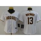 Women's San Diego Padres #13 Manny Machado White 2020 Cool Base Jersey