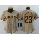 Women's San Diego Padres #23 Fernando Tatis Jr Khaki 2020 Cool Base Jersey