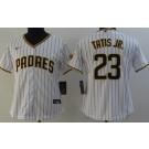 Women's San Diego Padres #23 Fernando Tatis Jr White Team Patch Cool Base Jersey