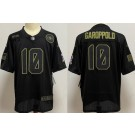 Women's San Francisco 49ers #10 Jimmy Garoppolo Limited Black 2020 Salute To Service Jersey