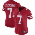 Women's San Francisco 49ers #7 Colin Kaepernick Limited Red Vapor Untouchable Jersey
