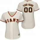 Women's San Francisco Giants Customized Cream Cool Base Jersey