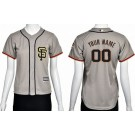 Women's San Francisco Giants Customized Grey Cool Base Jersey