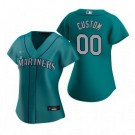 Women's Seattle Mariners Customized Aqua Alternate 2020 Cool Base Jersey