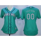 Women's Seattle Mariners Customized Green Cool Base Jersey