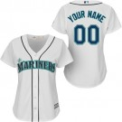Women's Seattle Mariners Customized White Cool Base Jersey