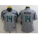 Women's Seattle Seahawks #14 DK Metcalf Limited Gray Vapor Untouchable Jersey