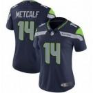 Women's Seattle Seahawks #14 DK Metcalf Limited Navy Vapor Untouchable Jersey