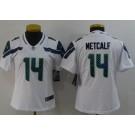 Women's Seattle Seahawks #14 DK Metcalf Limited White Vapor Untouchable Jersey