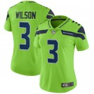 Women's Seattle Seahawks #3 Russell Wilson Limited Green Rush Color Jersey