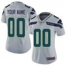 Women's Seattle Seahawks Customized Limited Gray Vapor Untouchable Jersey