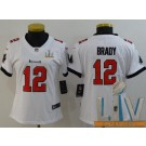 Women's Tampa Bay Buccaneers #12 Tom Brady Limited White 2021 Super Bowl LV Bound Vapor Untouchable Jersey