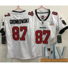 Women's Tampa Bay Buccaneers #87 Rob Gronkowski Limited White 2021 Super Bowl LV Bound Vapor Untouchable Jersey