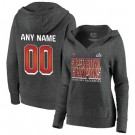 Women's Tampa Bay Buccaneers Custom Gray 2021 Super Bowl LV Champions Pullover Hoodie 210328