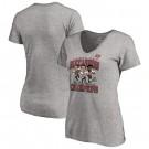 Women's Tampa Bay Buccaneers Gray 2021 Super Bowl LV Champions Printed T-Shirt 210373