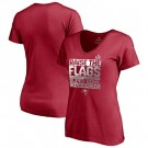 Women's Tampa Bay Buccaneers Red 2021 Super Bowl LV Champions Printed T-Shirt 210369