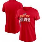 Women's Tampa Bay Buccaneers Red 2021 Super Bowl LV Printed T-Shirt 210371