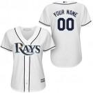 Women's Tampa Bay Rays Customized White Cool Base Jersey