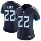 Women's Tennessee Titans #22 Derrick Henry Limited Navy Vapor Untouchable Jersey