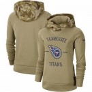 Women's Tennessee Titans Khaki 2019 Salute to Service Therma Printed Pullover Hoodie