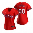Women's Texas Rangers Customized Red 2020 Cool Base Jersey