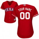 Women's Texas Rangers Customized Red Cool Base Jersey